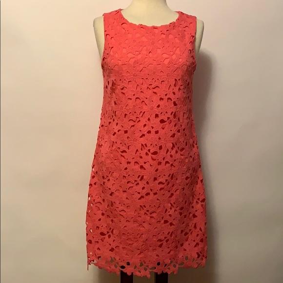 Jessica Simpson Dresses & Skirts - Jessica Simpson Coral Lace Overlay Dress Sz 4